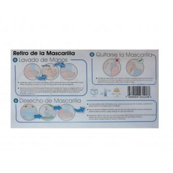 Mascarilla 3 Pliegues Deshechable Facial - 2 unidades