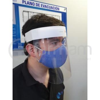 Escudo Facial Súper Clear con Banda Ajustable