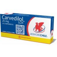 Carvedilol Bioequivalente Comprimidos 25mg.30