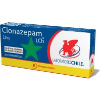 Clonazepam Bioequivalente Lab Chile Comprimidos 2,0 mg.30