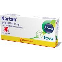 Nartan Comprimidos Recubiertos 2,5 mg.10