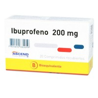 Ibuprofeno Bioequivalente Comprimido 200mg.20