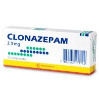 Clonazepam Bioequivalente Mintlab Comprimidos 2,0 mg.30