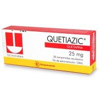 Quetiazic Comprimidos Recubiertos 25mg. 30