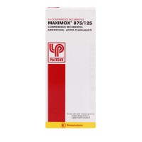 Maximox Comprimidos Recubiertos 875mg/125mg. 14