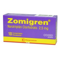 Zomigren Comprimidos Recubiertos 2,5 mg.10