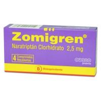 Zomigren Comprimidos Recubiertos 2,5 mg.4