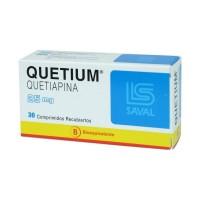 Quetium Comprimidos Recubiertos 25mg.30
