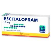 Escitalopram Bioequivalente Comprimidos Recubiertos 10 mg.30
