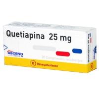 Quetiapina Bioequivalente Comprimidos Recubiertos 25mg.30