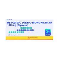 Metamizol Sodico Monohidrato(Dipirona) Bioequivalente Comprimidos 300mg.20